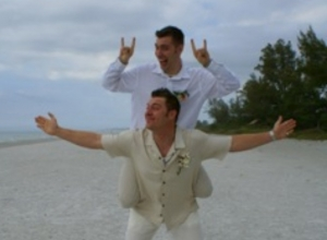 Longboat Key beach wedding Josh and Nandry Jan 12