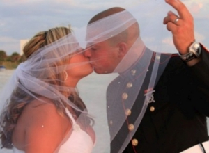 Kayla and Robert military beach wedding September 13