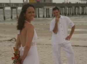 Ft Myers beach wedding with Mickey and Kandice