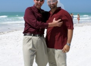Beach Wedding Coquina Beach Florida  Norm and Roxanne
