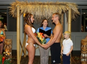 Tropical Luau wedding